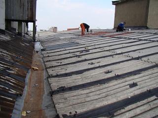 Nástřik plechové střechy